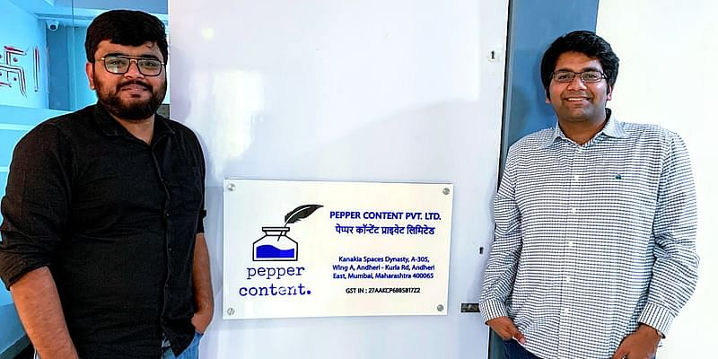 Anirudh Singla and Rishabh Shekhar pepper content founders